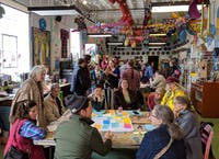 Members of Athens Makerspace and Athens residents met at Passion Works Studio on Sunday, March 1 to discuss the future of Makerspace. (Provided via Wenda Sheard)