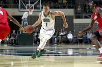 Ohio's Jason Carter pushes towards the basket during The Bobcats' game against Radford on Saturday.