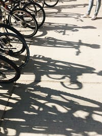 Shadows are cast from a bike rack by Morton Hall on Sept. 10, 2017. (FILE)