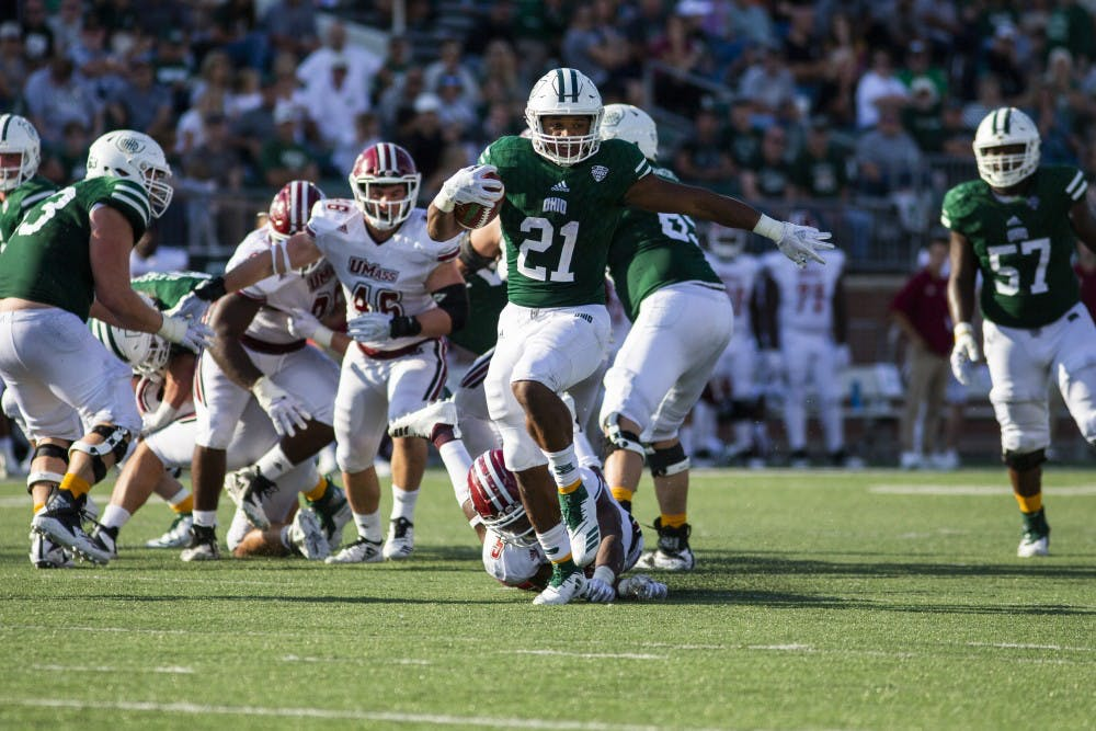 Football: Maleek Irons finds his signature moment in Ohio's 58-42 win