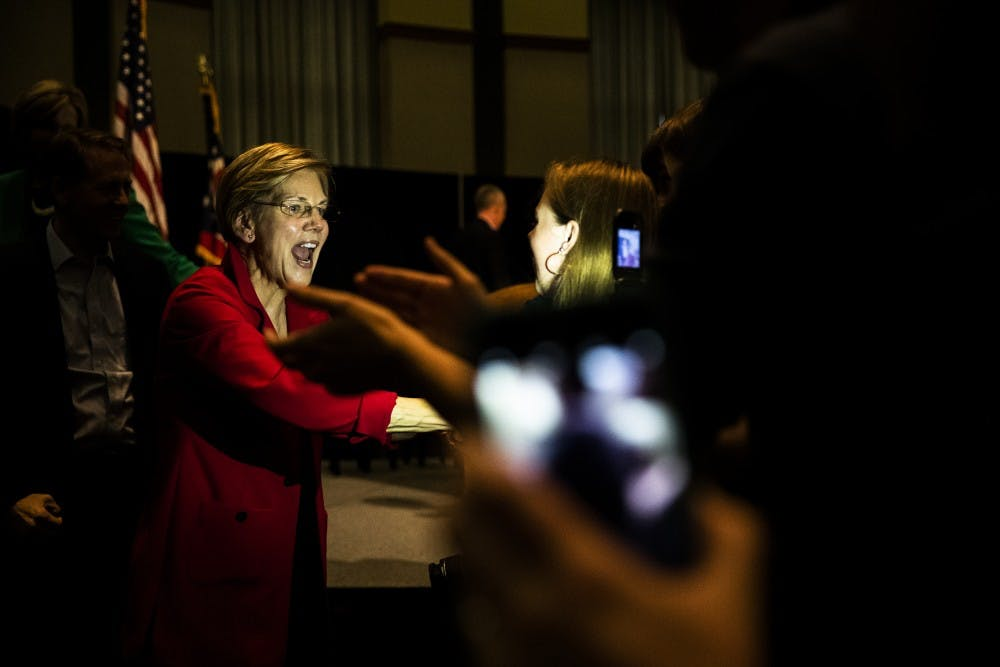 Elizabeth Warren, Ohio Democratic candidates visit Ohio University to encourage people to vote for Democrats