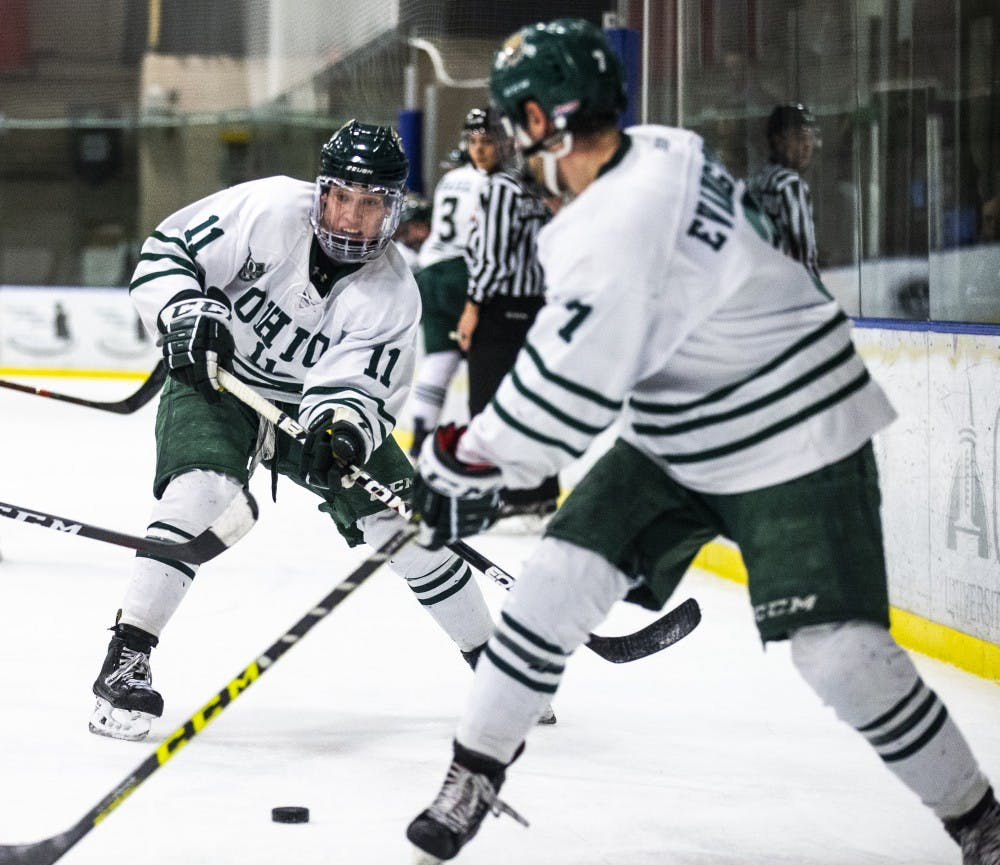 Hockey: Ohio splits weekend series with Illinois