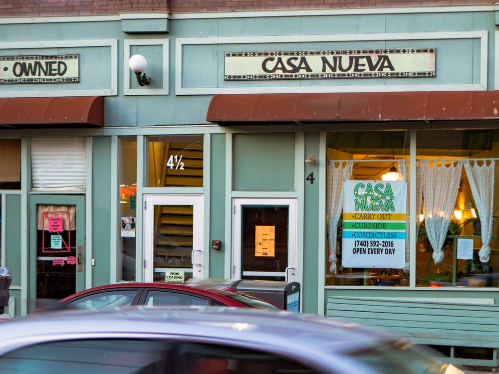 Casa Nueva at 6 W State St in Athens, Ohio.
