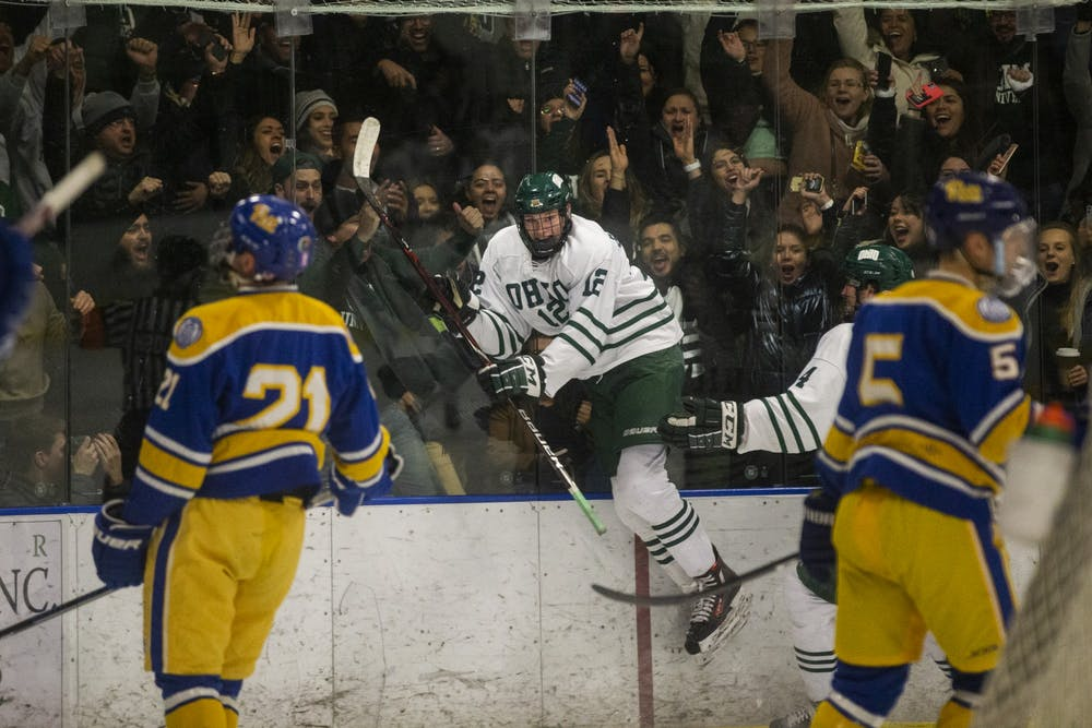 Hockey: Ohio makes the right adjustments before, during its first win of the year