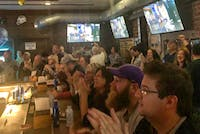 Athens residents packed inside Cat's Corner on Saturday in anticipation of Joe Burrow winning the Heisman trophy.