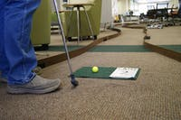 Alden Library changed their floors into a Mini Golf course, on Saturday, Nov. 3, for Dad's Weekend.