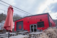 With its iconic red paint standing out among the other stores along Columbus Rd., Devil's Kettle Brewery shows off its patio where locals and students enjoy craft beers and a varity of foods.