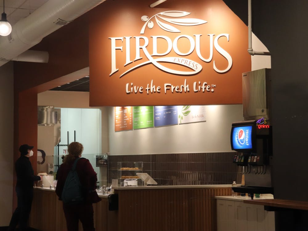 "Firdous Express, a new ""Mediterranean fast casual restaurant"" located inside Bubbles on Court Street in Athens, Ohio."