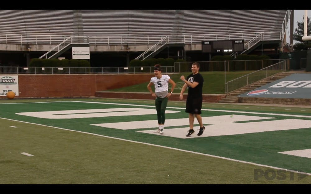 Football: Ohio's punter showed us how hard punting really is