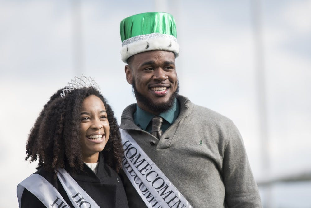 Ohio University's homecoming king and queen are both African-American