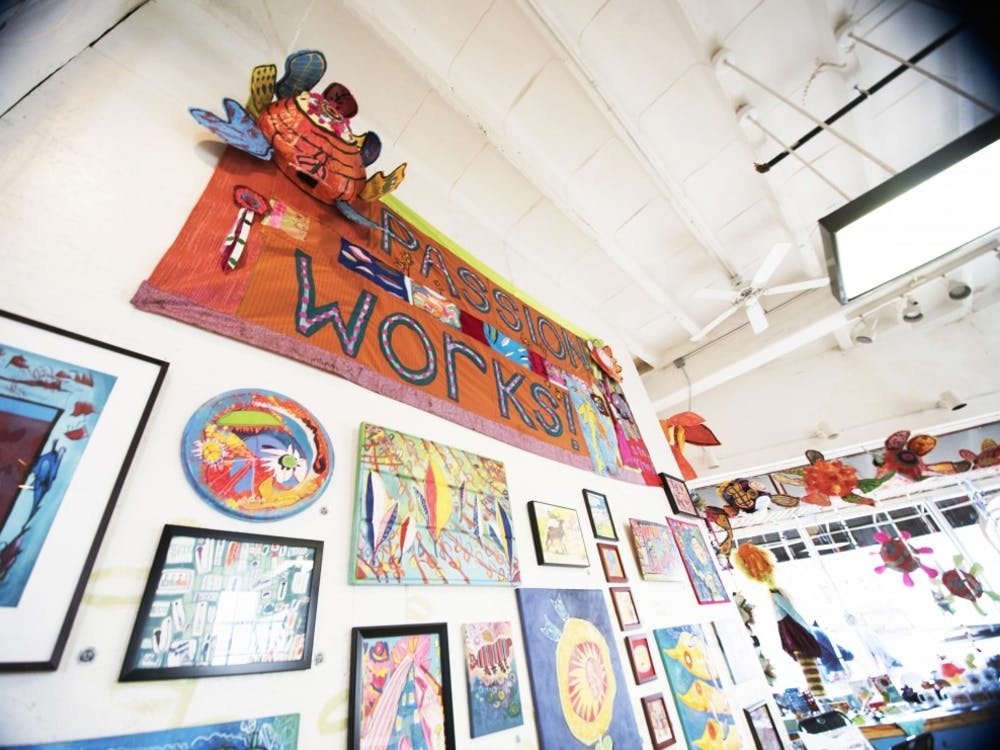 Passion Works studio located on E. State Street in Athens, Ohio, has encouraged people of all abilities to come and create art for 20 years. (FILE)