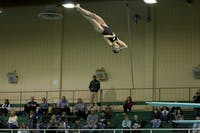 Sienna Breton dives for the Bobcats against Akron on November 9, 2019 in Athens, Ohio. (FILE)
