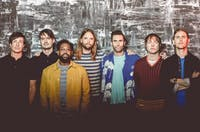 Maroon 5, led by frontman Adam Levine, is rumored to be playing the Pepsi Super Bowl Halftime Show. (Photo via @billboard on Twitter)