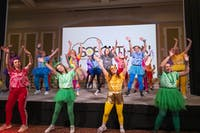 Morale Dancers at the 6th annual BobcaThon show participants the lead line dance that participants learned. BobcaThon was held in Baker Ballroom, they raise money to support the Ronald McDonald House of Central Ohio in Columbus, Ohio on Saturday, Feb. 15, 2020.