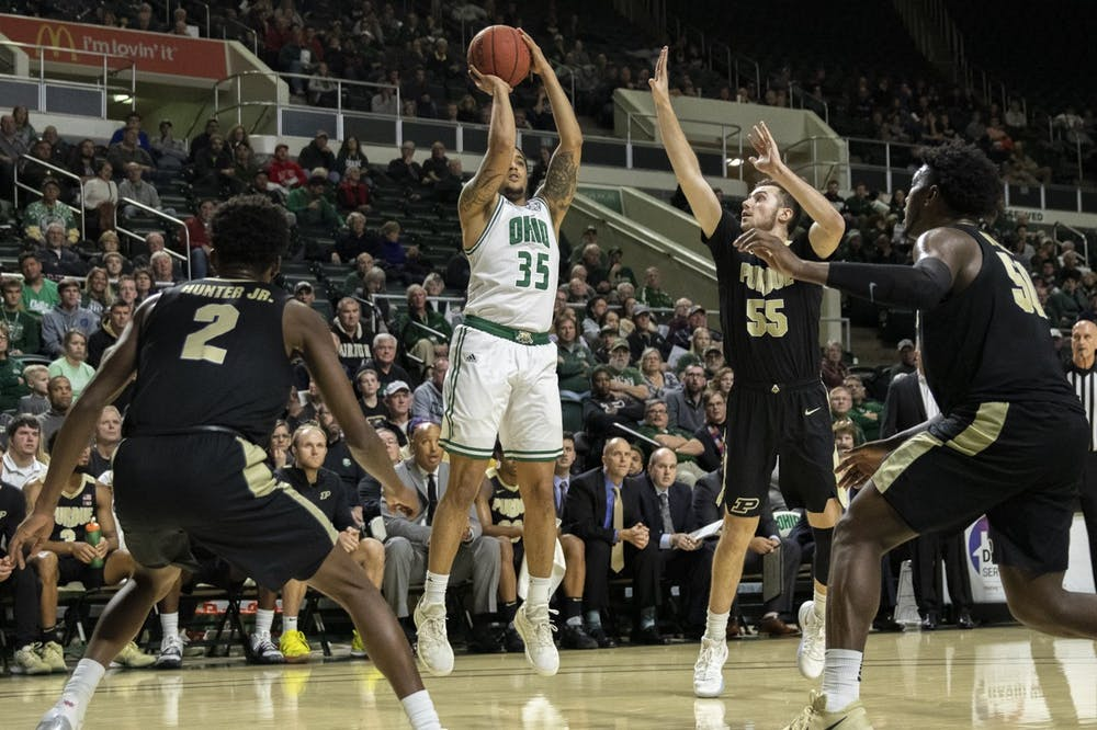 Men's Basketball: Ohio defeats Eastern Michigan 74-68 in conference home opener