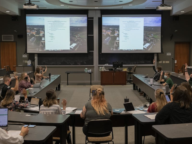 The Ohio University Student Senate holds the first general body meeting of the semester on Wednesday, September 1, 2021.