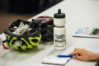 Meg Hummon takes notes during the speech held by a national biking group. The group talked about how to improve Athens for bikers at Athens Community Center Aug. 28.