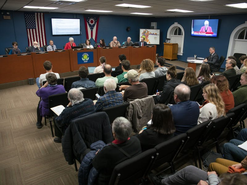 The Athens City Council meets for its regular session in the Athens City Building on November 18, 2019. (FILE)