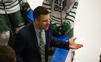 Coach Sean Hogan during the Bobcats' game against Illinois on Feb. 9, 2018. (FILE)
