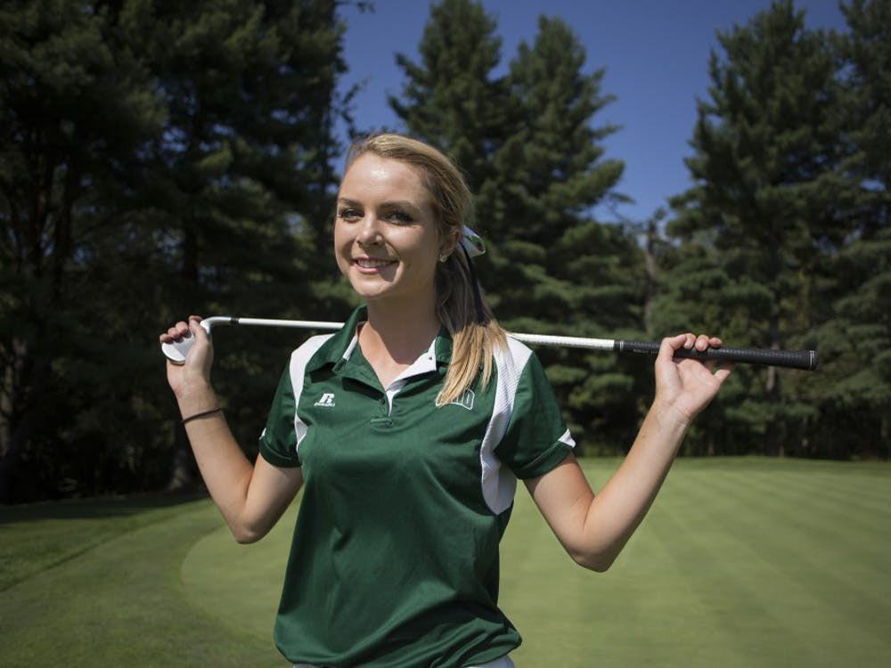 Former women's golf player Hailey Hrynewich will start off the season after finishing in the top 10 in three straight summer tournaments. Last spring, Hrynewich finished in 10th place overall in the MAC championship. (FILE)