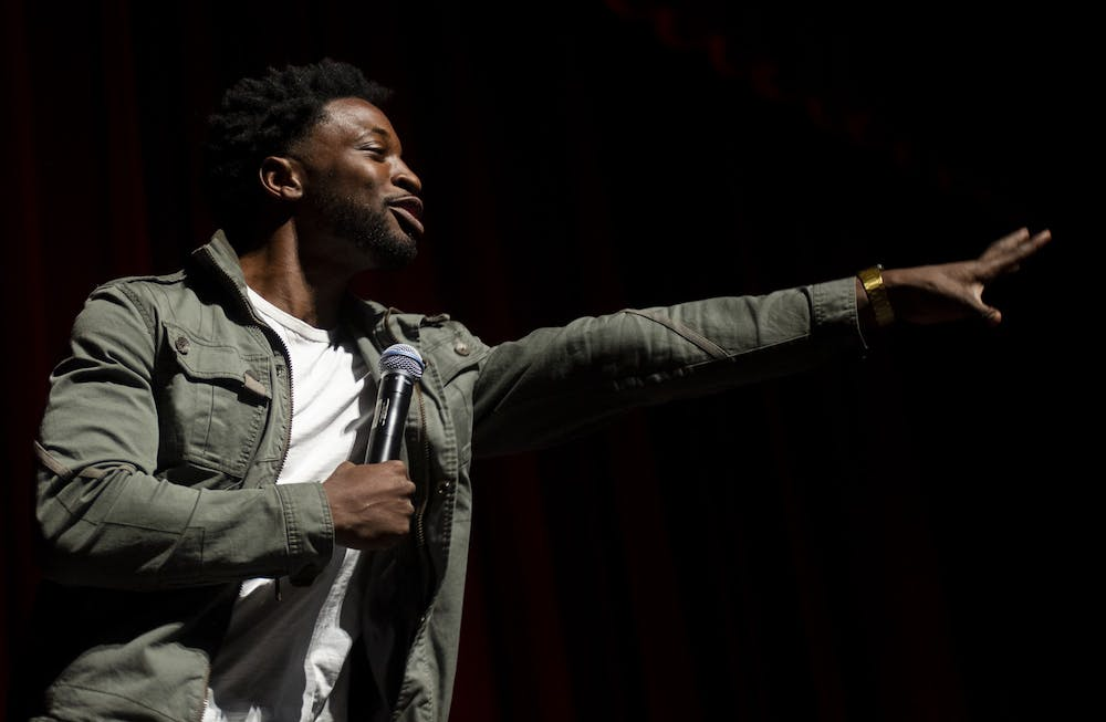 Preacher Lawson delivers an animated set packed with high energy for Sibs Weekend