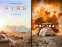 Netflix and Hulu both created documentaries about the disastrous Fyre Festival. But which should you watch? (photo via @Gothamist on Twitter)