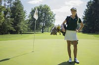 Women's golfer, Hailey Hrynewich, of Muskegon, MI, poses for a portrait. (FILE)