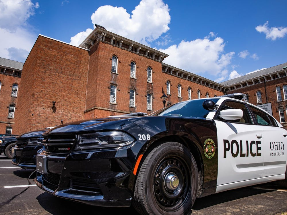 Ohio University Police Department at The Ridges. OUPD recently transitioned from the Scott Quadrangle undergraduate dorm building into the grounds of The Ridges.