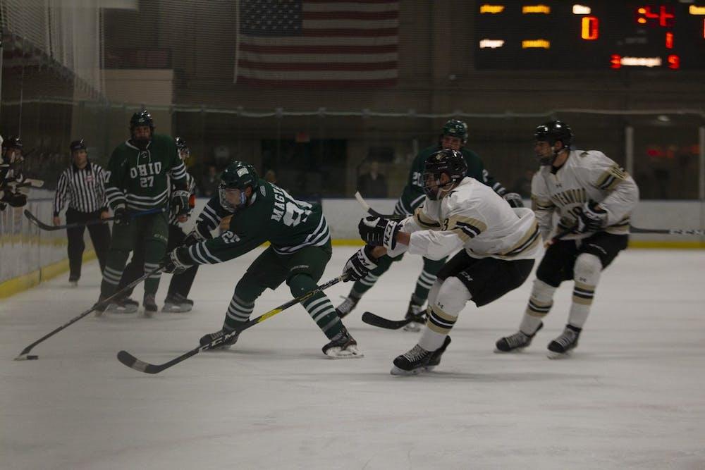 Hockey: Ohio defeats league rival Lindenwood 2-1