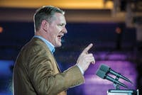 Republican Steve Stivers addresses the crowd during his acceptance speech after winning the race for Ohio's 15th Congressional District at the Renaissance Hotel in Columbus. Stivers defeated Pat Lang in all but one county in the district to win the seat. (FILE)