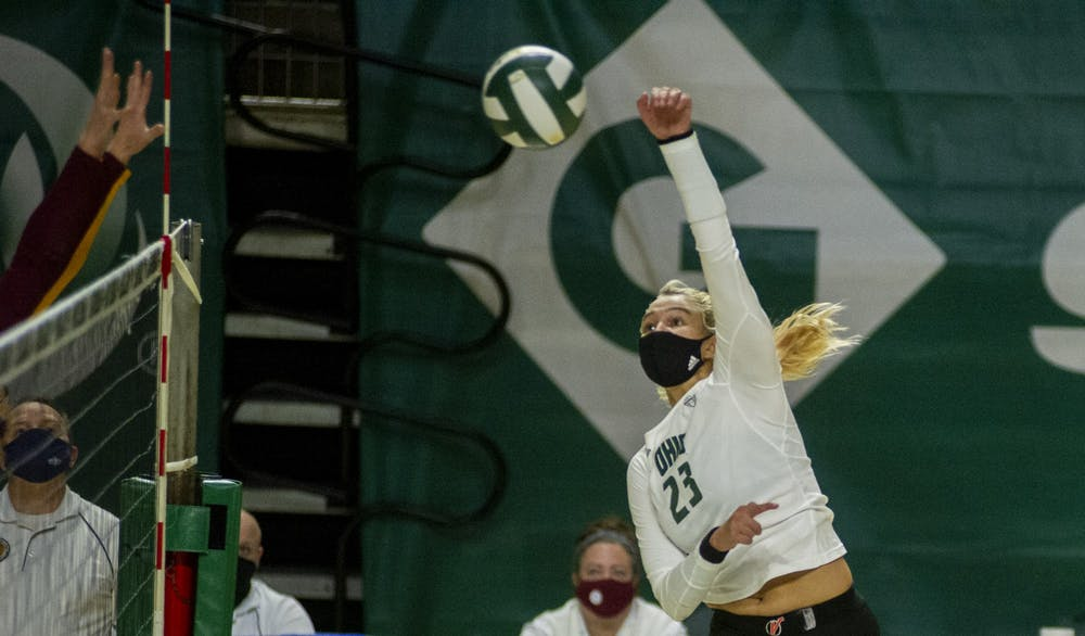 Volleyball: Ohio splits series with Ball State following 3-0 win