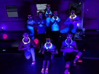 Yoga instructor Liz Kelley's second glow yoga class for tweens will be held Saturday. (Provided via Liz Kelley)