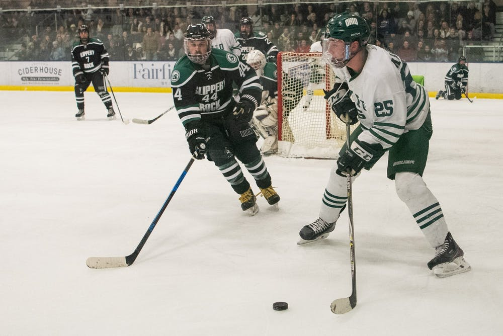 Hockey: Ohio defeats Slippery Rock 10-2, snaps five-game losing streak