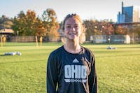 Ohio's Defense Victoria Breeden poses for a portrait before a practice held at Chessa Field on Wednesday, Oct. 23, 2019.