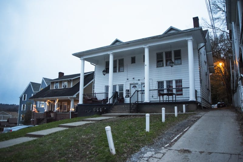 The unofficial Sigma Pi annex house, 45 Mill St.