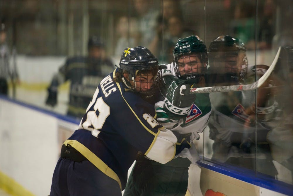 Hockey: Jimmy Thomas earns first career shutout in 4-0 win over Kent State