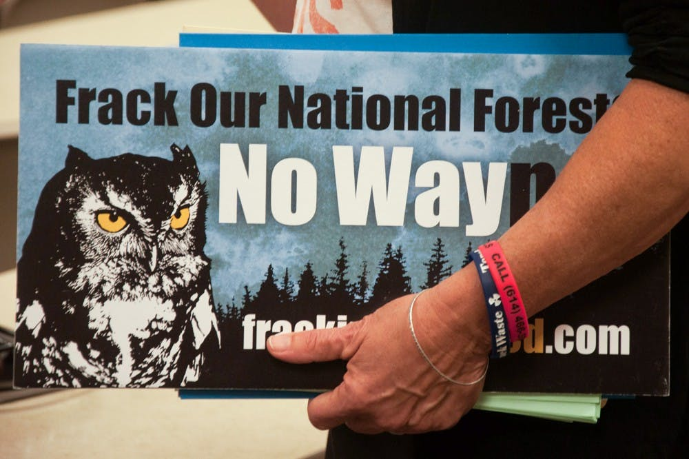 Local residents, students occupy Forest Service meeting over fracking concerns