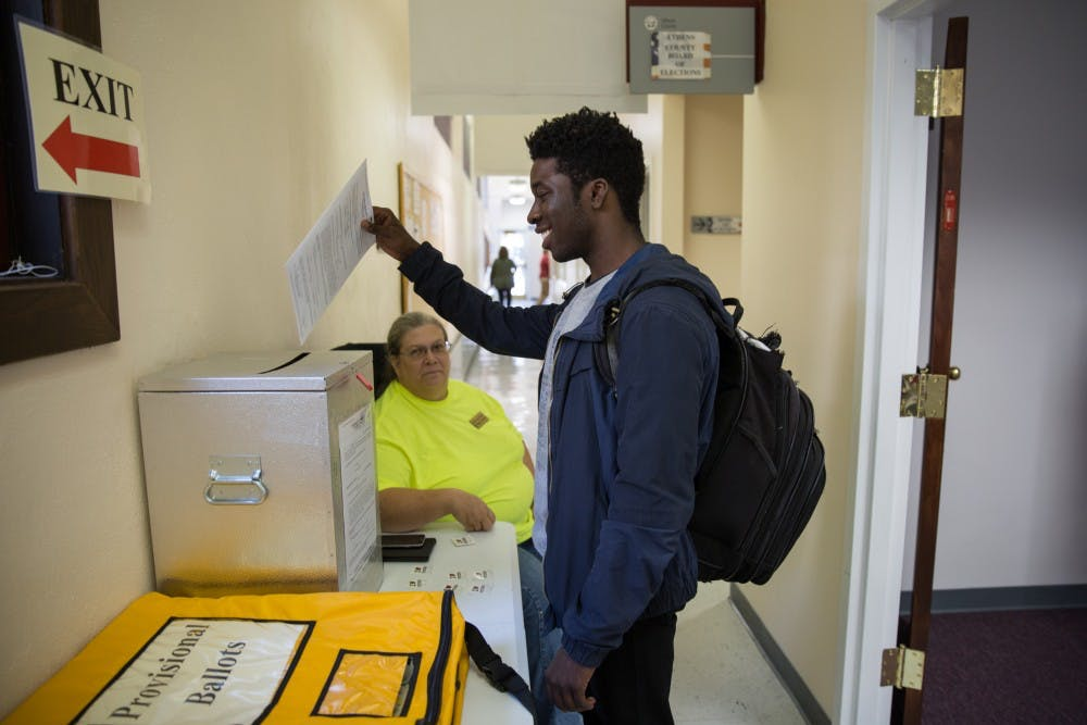 Students don't make up a large portion of early votes in Athens