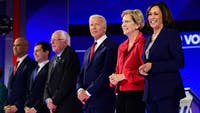 Thursday's Democratic Primary Debate brought up some good topics, but no candidate particularly shined. (Photo via @thehill on Twitter)