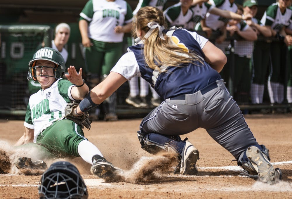 Softball: Bobcats' late surge not enough against Ohio State
