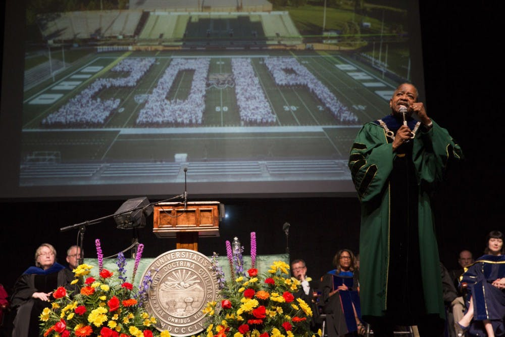 President McDavis welcomes OU's class of 2019, says they're 'Bobcats forever'