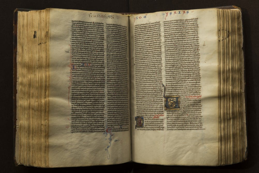 Alden Library houses hand-crafted Bible from 13th century
