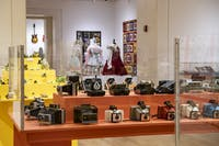 The Reflective Objects exhibit shows off local collections of historical and cultural items at the Kennedy Art Museum on Monday, Nov. 4, 2019.