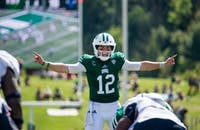 Ohio quarterback Nathan Rourke calls out plays during the Bobcats' game against Howard on Sept. 1. (FILE)