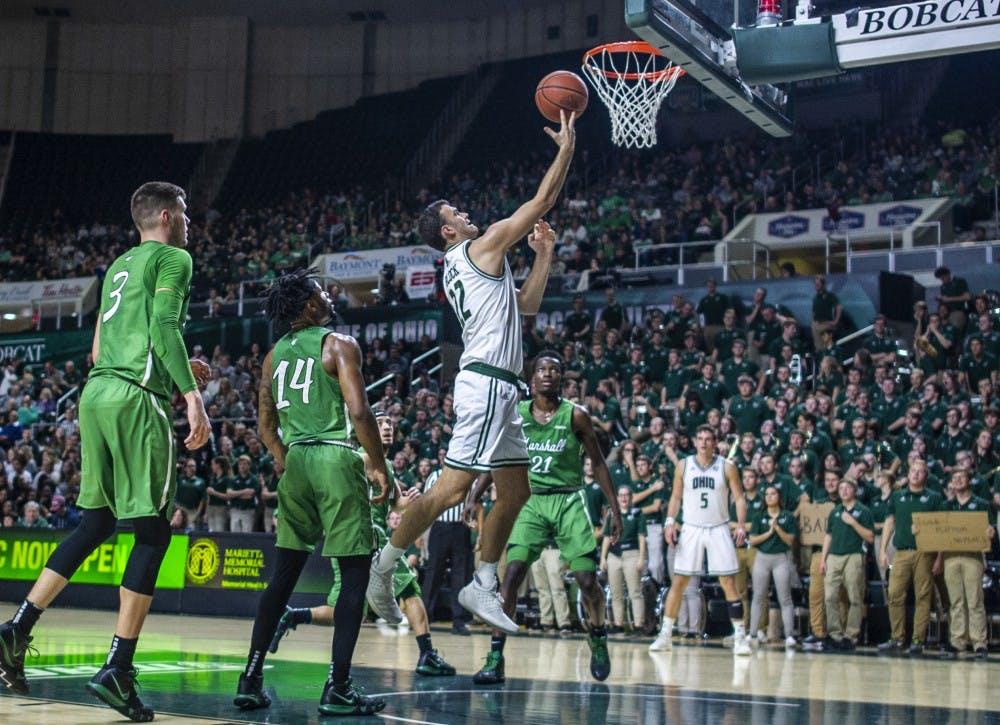 Mens Basketball: Ohio defeats Marshall 101-84 behind Carter's big day