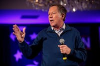 Gov. John Kasich speaks at a campaign event in New Hampshire in 2016. (provided via Gage Skidmore)