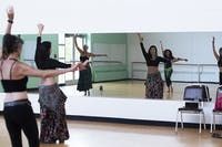 Belly Dancing instructor, Ellie Olin, teaches a class at Athens Community Center on Thursday, Sept. 6, 2018.