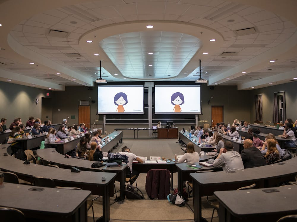 Student Senate meeting in Walter Hall, on Feb. 26, 2020. (FILE)