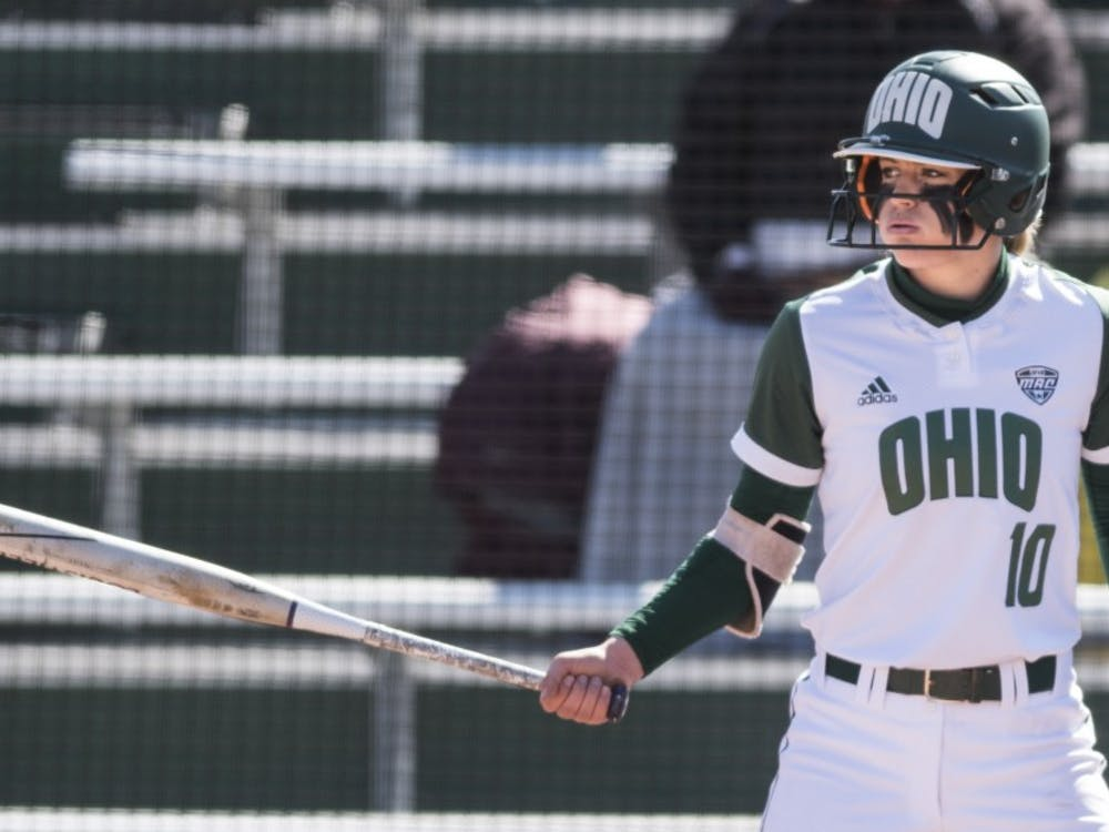 Ohio's Alex Day prepares to bat during the Bobcats' game against Central Michigan on March 23. (FILE)