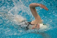 Ohio's Emma Fortman competes in the 200-yard backstroke during the meet versus Ball State in on Saturday, January 25, 2020, in Athens, Ohio. Ohio won 188.5-110.5. (FILE)